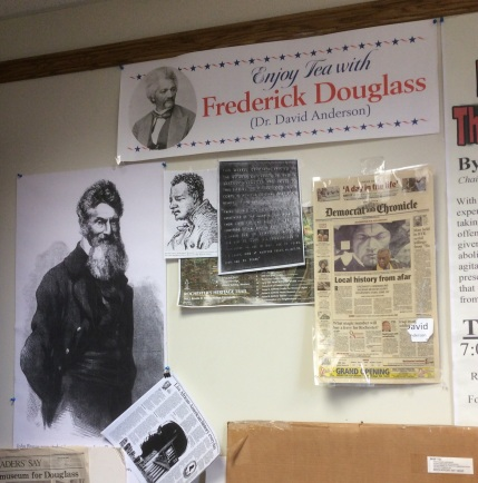 Douglass scholarship articles and posters, Dr. David Anderson's office, Nazareth College Rochester, 2016 Amy Cools