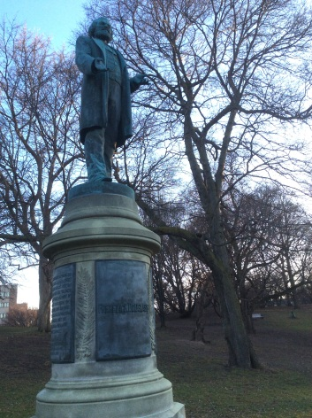 Frederick Douglass Monument Statue in Highland Park, Rochester NY, closer, 2016 Amy Cools
