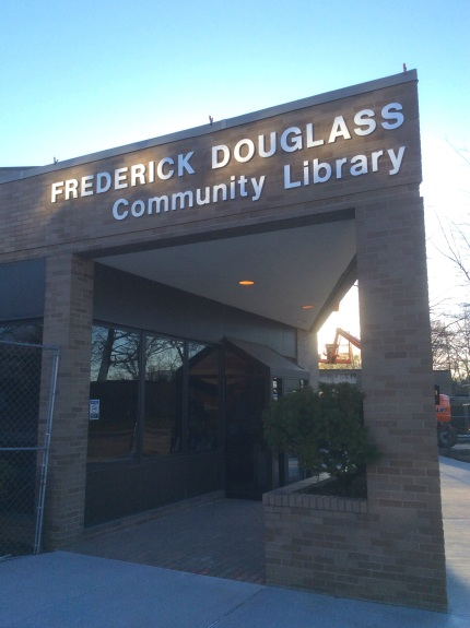 Fredrick Douglass Community Library at James P. Duffy School, site of South Ave Douglass home