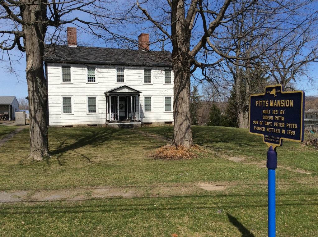 Gideon Pitts House, Honeoye, NY, home of the father of Helen Pitts Douglass