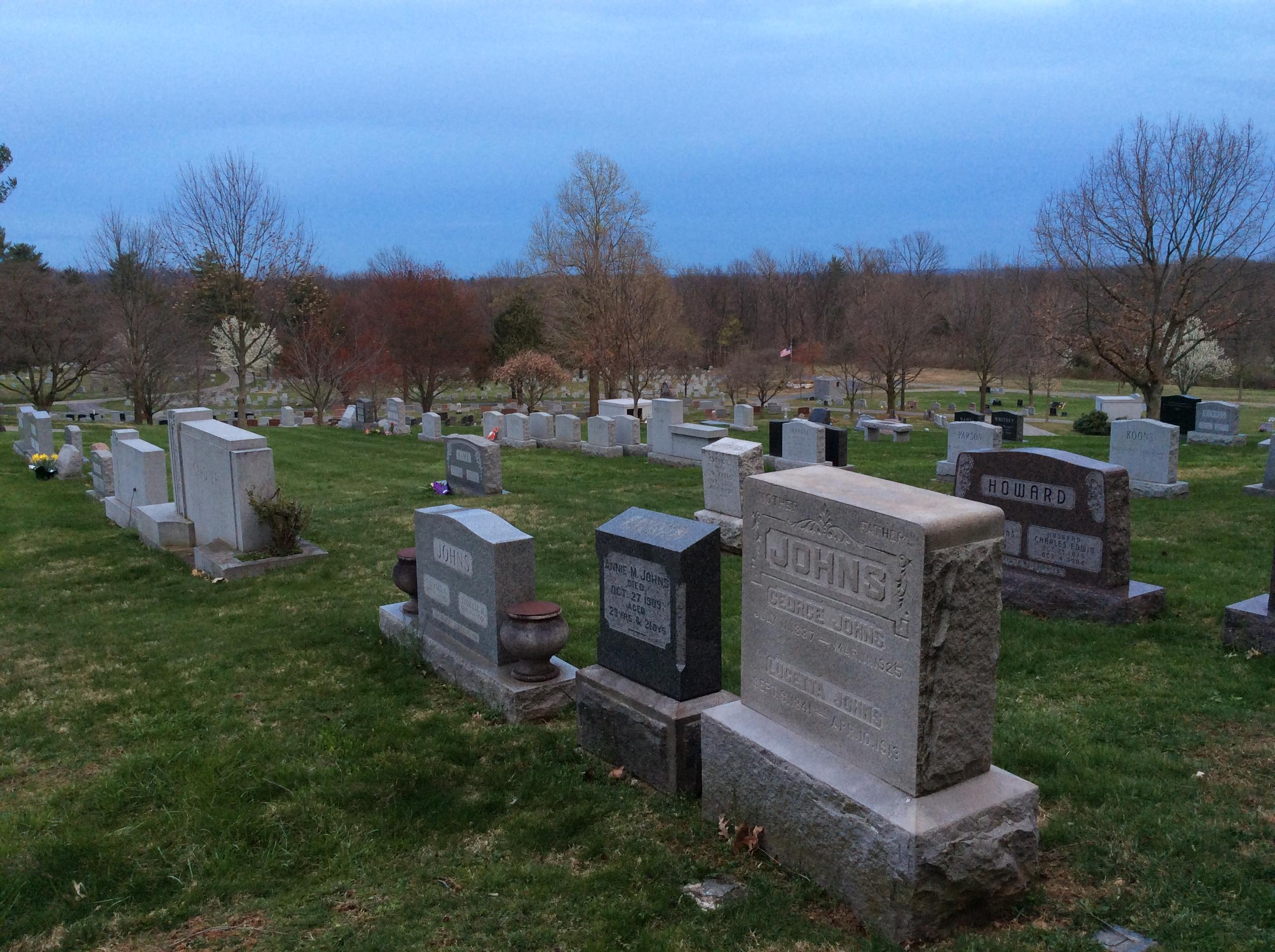 Headstones in Gettysburg National Cemetery
