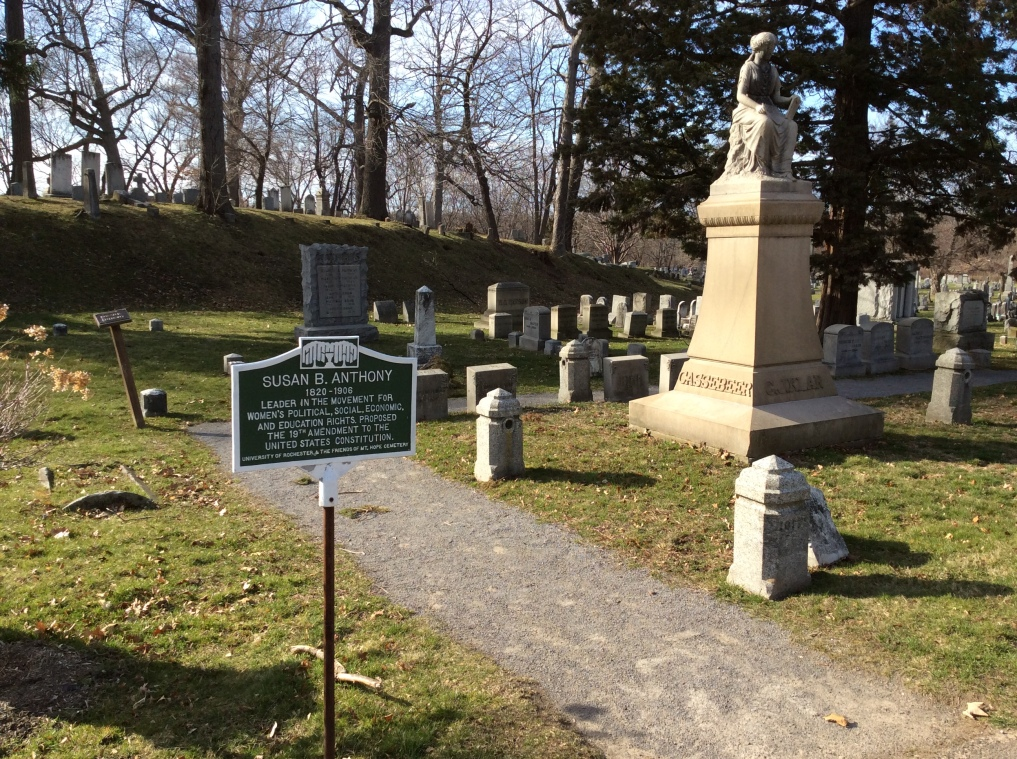 Historical marker en route to Susan B. Anthony's gravesite