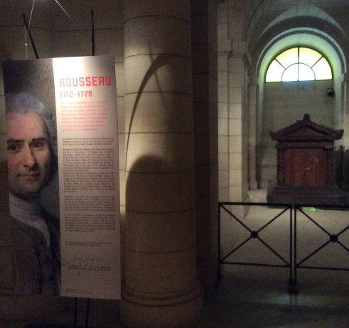 Jean-Jacque Rousseau's Tomb in the Parthenon, Paris, photo 2015 by Amy Cools