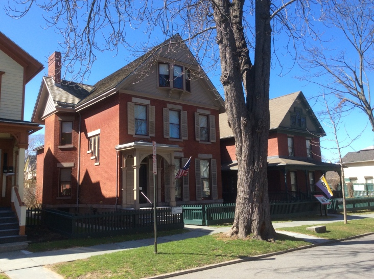 Susan B Anthony House (left) and Museum (right), at 17 Madison, Rochester