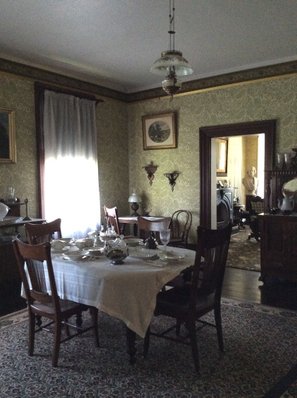 Another view of the Cedar Hill dining room, looking north into the sitting room
