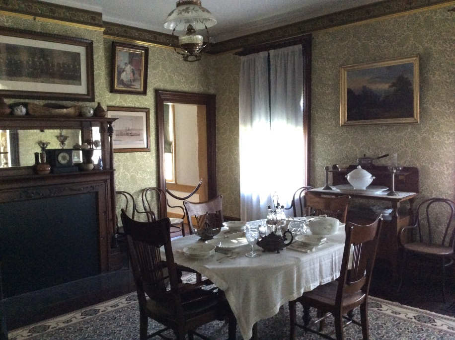Cedar Hill dining room, where Frederick Douglass died, Anacostia Washington DC