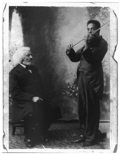 Frederick and Joseph Douglass, from the Library of Congress archives, via the Lion of Anacostia blog
