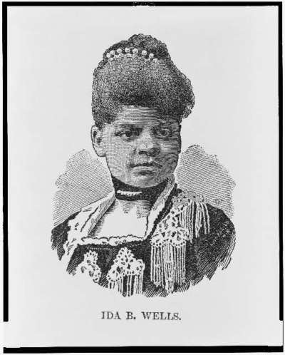 Ida B. Wells, head-and-shoulders portrait, published, 1891, Image retrieved from the Library of Congress LC-USZ62-107756, public domain