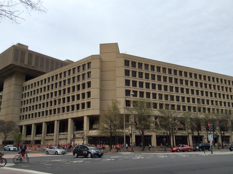 J. Edgar Hoover Building at 925 Pennsyvania NW, Washington DC