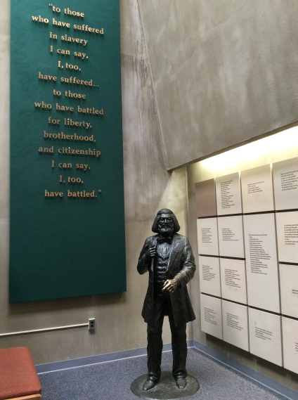 Statue and quote at the Frederick Douglass National Historic Site