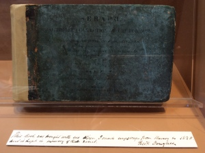 The hymnal Frederick Douglass had with him when he escaped from slavery in 1838