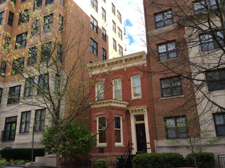 Charlotte Grimke House sandwiched between two apartment buildings, Washington DC