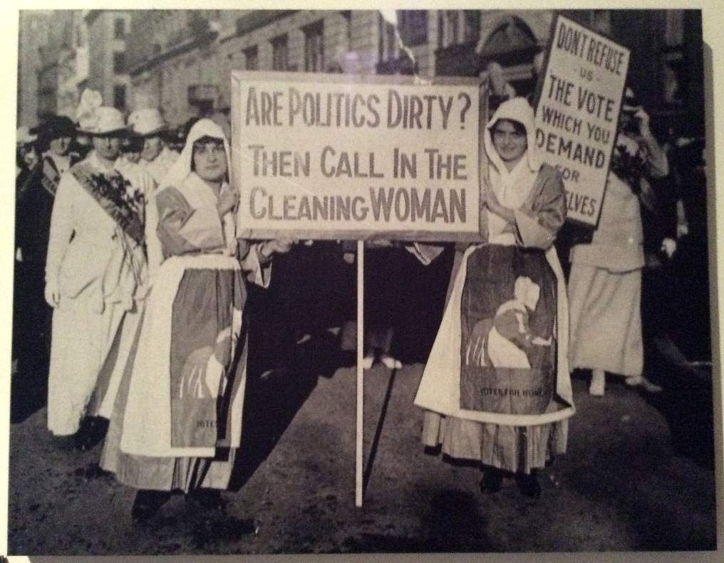 Cleaning Women Against Dirty Politics photo at Museum of the City of New York, 2014 Amy Cools
