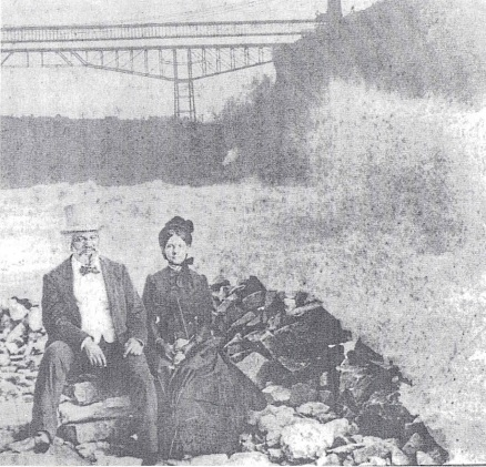 Frederick and Helen Pitts Douglass at Niagara Falls, image public domain via NPS