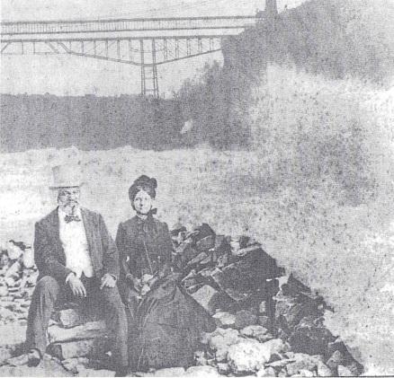 Frederick and Helen Pitts Douglass at Niagara Falls, image public domain via NPS