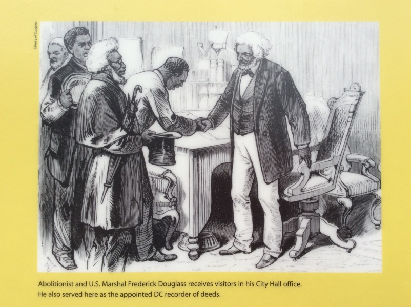 Frederick Douglass as US Recorder of Deeds, Library of Congress image, sign at D.C. Court of Appeals