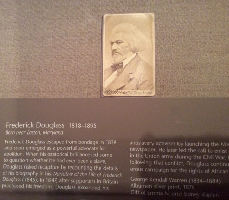 Frederick Douglass photograph, National Portrait Gallery, Washington DC, 2016 by Amy Cools