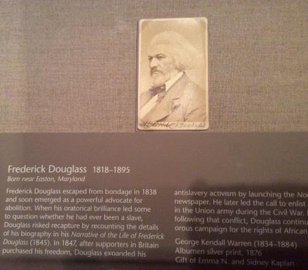 Frederick Douglass photograph, National Portrait Gallery, Washington DC, 2016 by Amy Cools