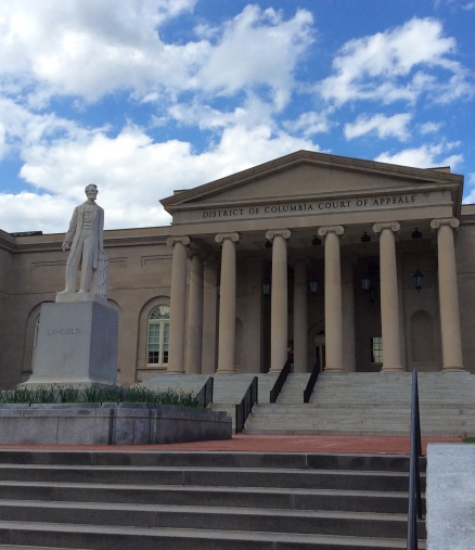 Lincoln's statue at DC Court of Appeals, formerly City Hall