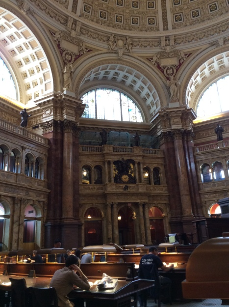Reading Room in the Jefferson Building of the Library of Congress