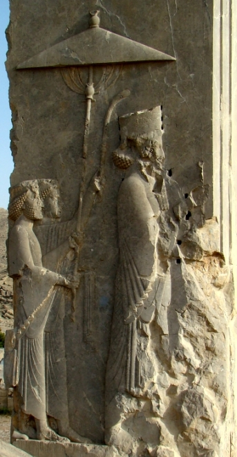 Relief of the Persian king Xerxes (485-465 BC) in the doorway of his palace at Persepolis