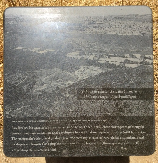 San Bruno Mountain marker