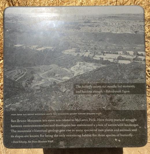 San Bruno Mountain marker