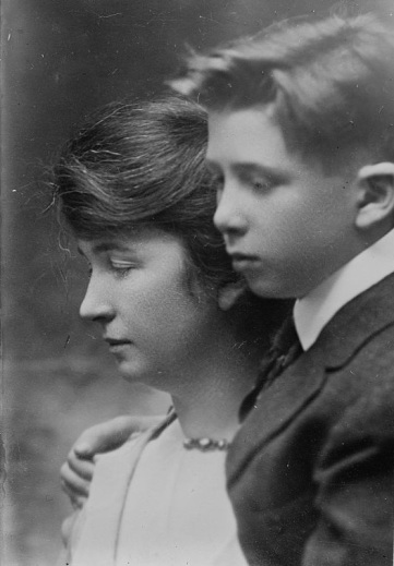 Margaret Higgins Sanger (1879-1966) birth control activist, sex educator, and nurse, with her eldest son Stuart, public domain via LOC