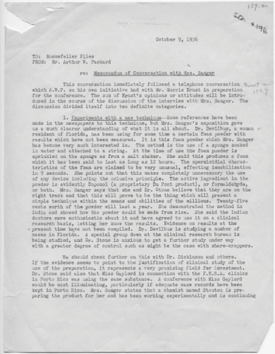 arthur-packard-memorandum-of-conversation-with-margaret-sanger-oct-9th-1936-1st-page