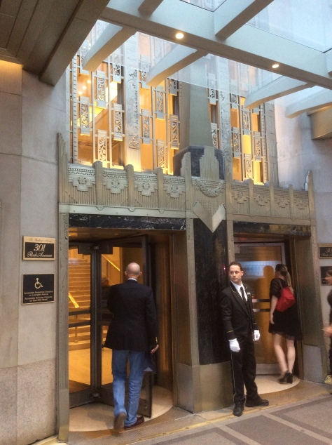 Front entrance of the Waldorf-Astoria Hotel on Park Ave at E. 50th St, Manhattan, NYC