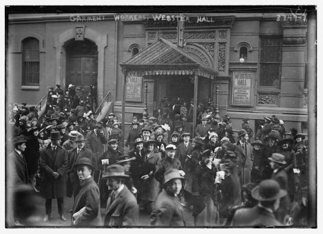 Garment workers, Webster Hall. Bain News Service, P. (ca. 1915) [between and Ca. 1920] [Image] Retrieved from the Library of Congress