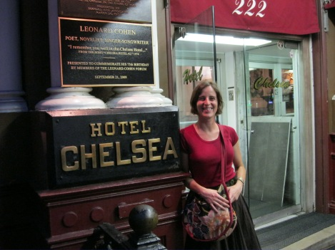 At the Chelsea Hotel in July of 2011, before they kicked everyone out to remodel