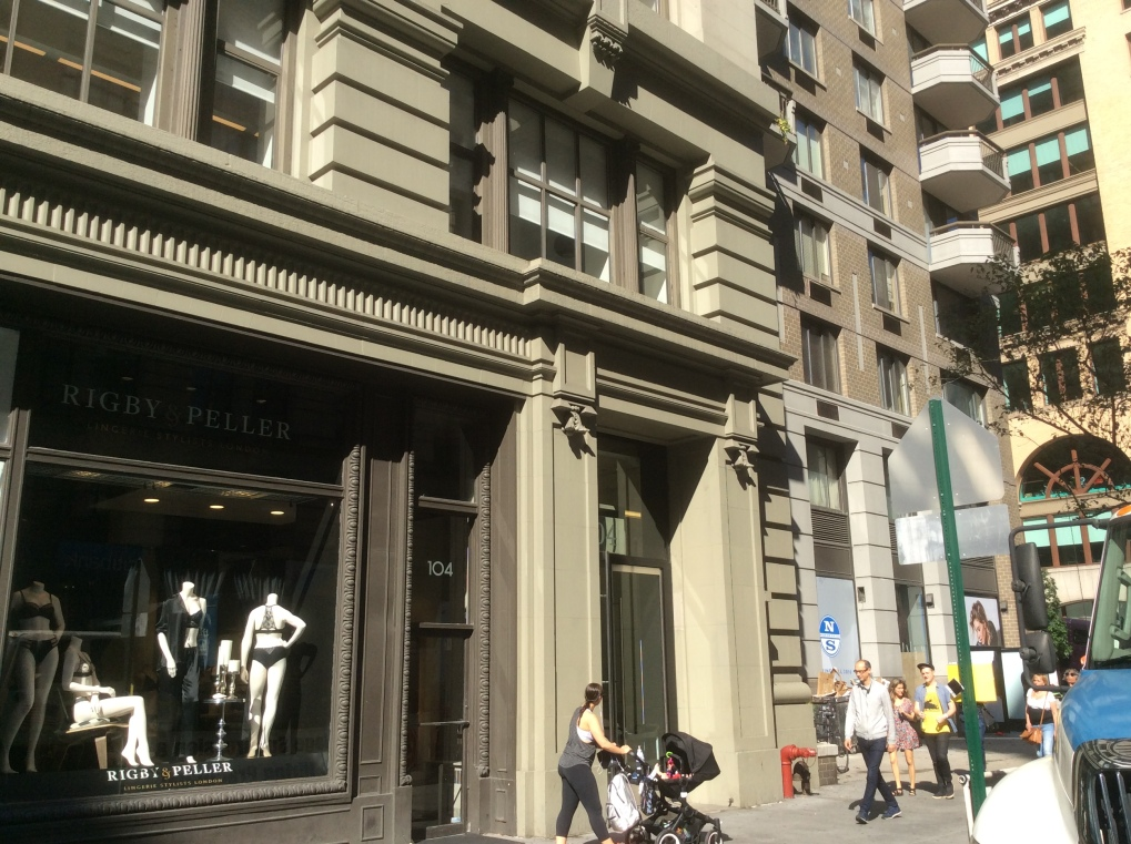 104 Fifth Ave, the first location of the American Birth Control League and the BCCRB, photo 2016 Amy Cools