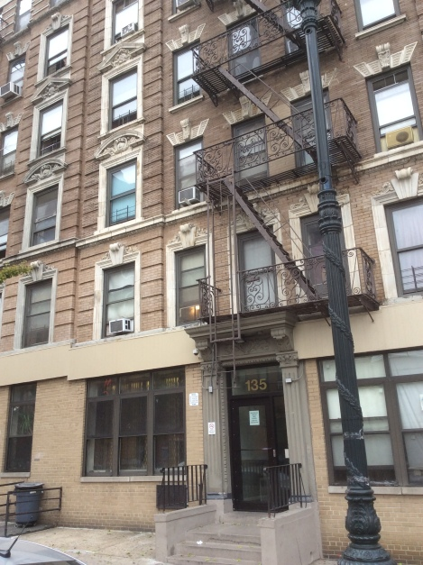 135 W. 135th St, between Malcolm X and Adam Powell Blvds, where Sanger and family lived in 1911, 2016 Amy Cools