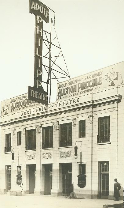 Adolph Phillip's Fifty-Seventh Street Theater, later the Bandbox Theater, courtesy of Schubert Archives