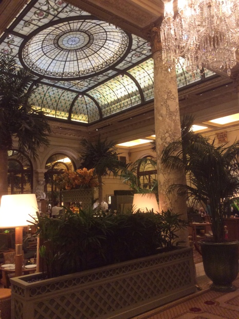 An interior view of the beautiful Plaza Hotel, Manhattan, NYC, 2016 Amy Cools