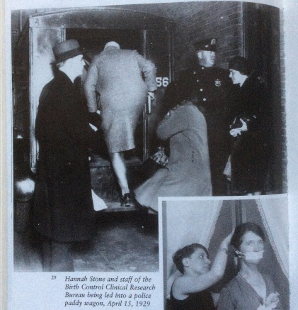 Birth Control Clinical Research Bureau raid 4-15-1929, photo of photo in Chesler's Sanger biography, 2016 Amy Cools