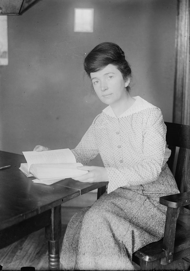 Margaret Higgins Sanger, Jan 1916 by Bain News Service, public domain via LOC
