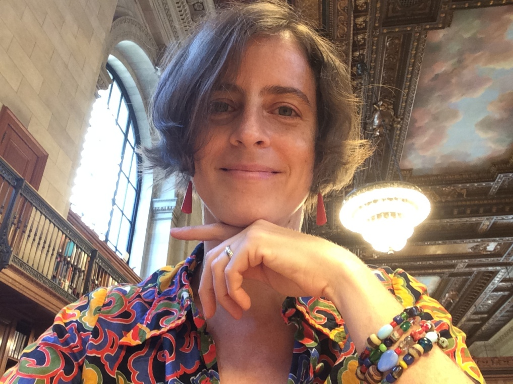 Selfie in the beautiful Rose Room of the New York Public Library, 2016 Amy Cools