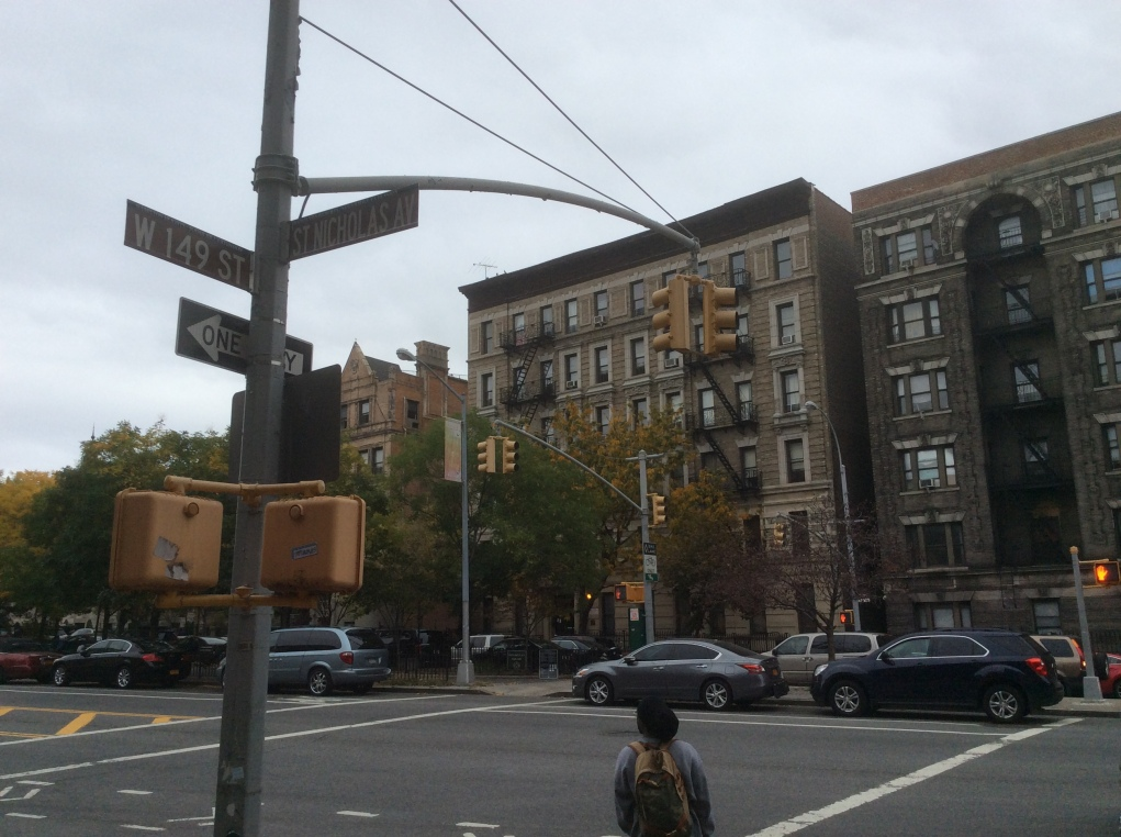 St Nicholas Avenue at 149th, more apartments which date to Sanger's time, NYC, 2016 Amy Cools