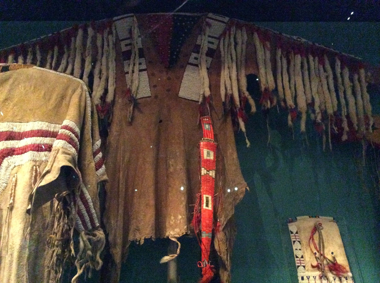 Lakota Sioux ermine trimmed buckskin shirt, National Museum of Scotland