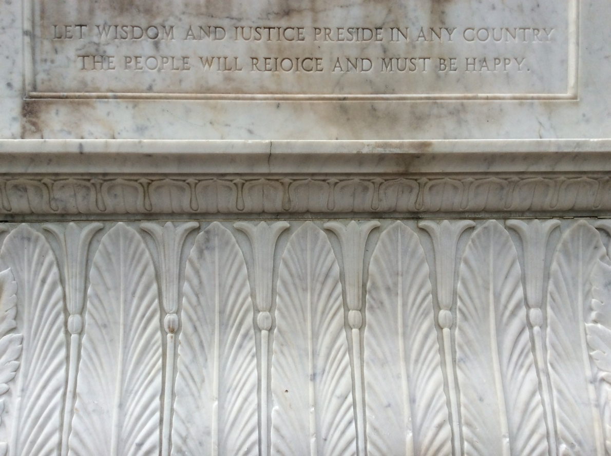 Inscription on the other side of the Concordia pedestal