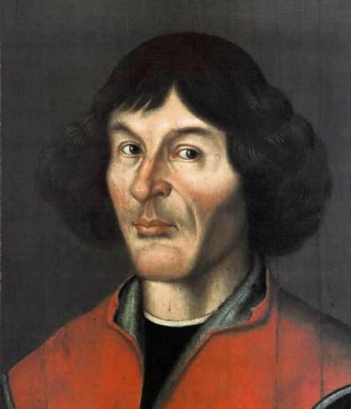 Nicolaus Copernicus portrait from Town Hall in Toruń, ca.1580, public domain via Wikimedia Commons