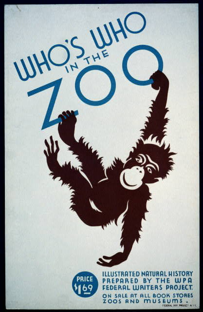 Who's Who in the Zoo Illustrated natural history prepared by the WPA Federal Writers Project, 1937-38, public domain via Library of Congress