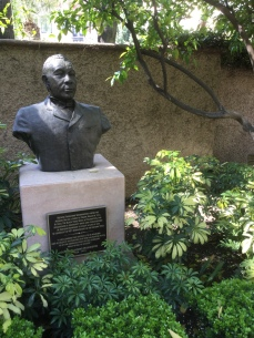 Booker T. Washington Sculpture in the Mission Inn gardens, Riverside, CA, photo by Amy Cools, 2017