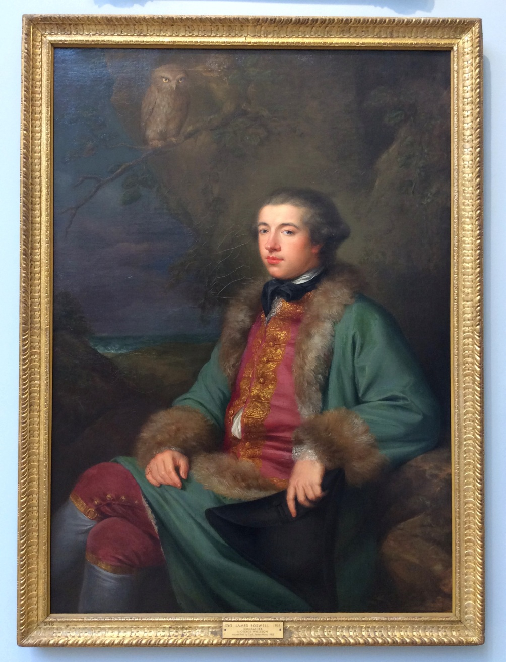 James Boswell portrait in the National Portrait Gallery, Edinburgh, 2014 Amy Cools