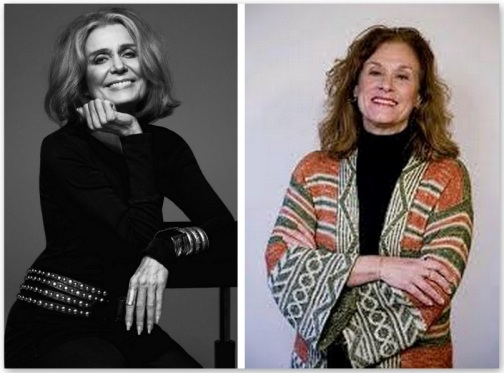 Gloria Steinem and Suzanne Braun Levine, image via Why Radio Podcast website