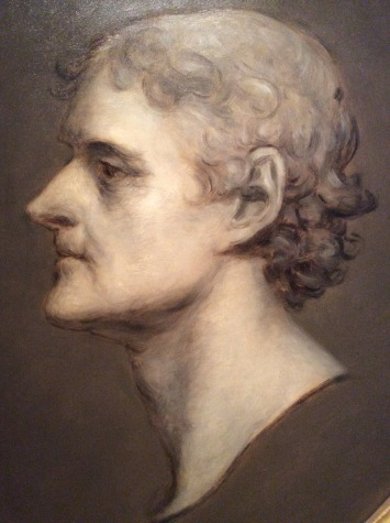 Thomas Jefferson by Charles Bird King, 1836, after Gilbert Stuart, at the Smithsonian Portrait Gallery, 2016 Amy Cools