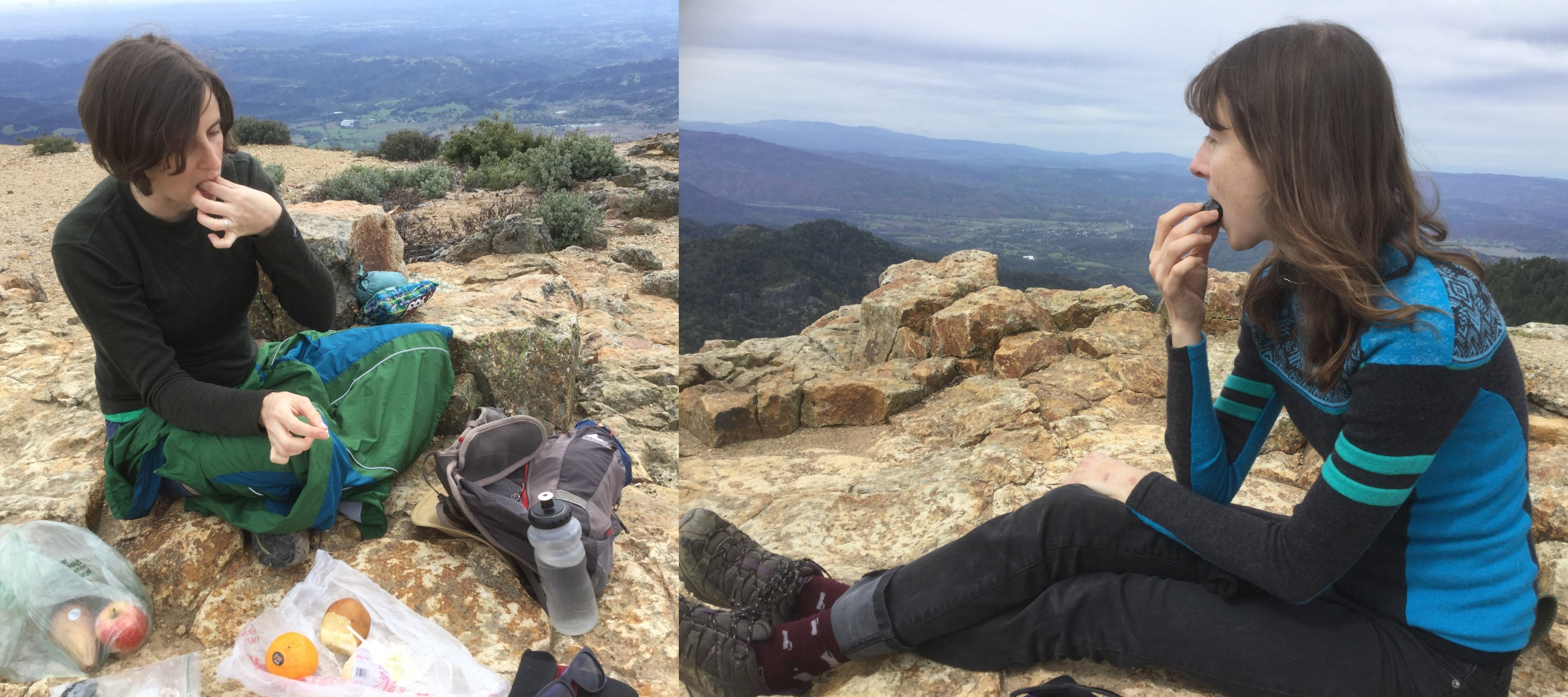 The flat rocks at the peak make a perfect place for a picnic on Mount Saint Helena, CA, 2017 Amy Cools.jpg