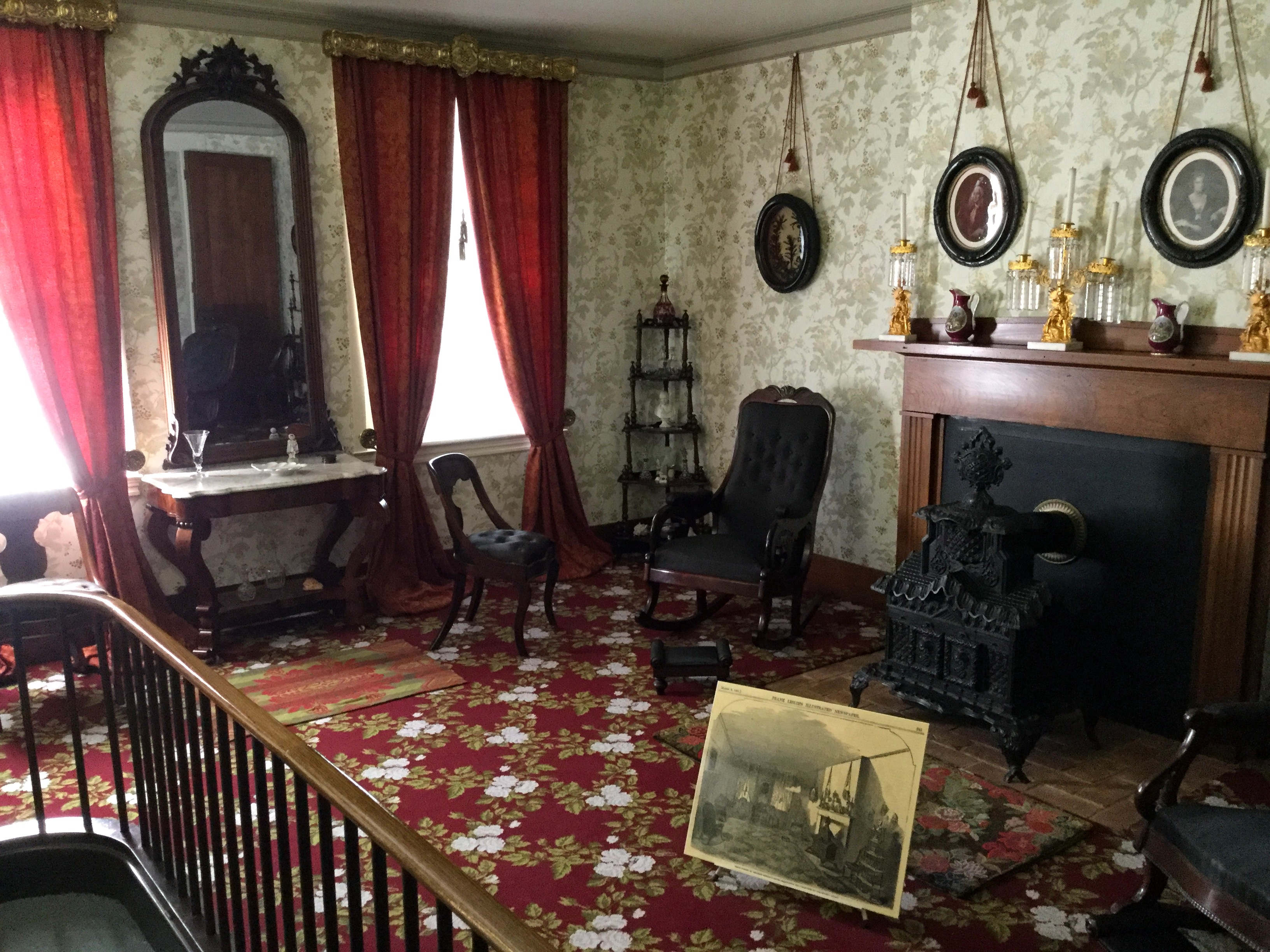 A View Of The Front Parlor At The Lincoln Home, Springfield, Illinois.